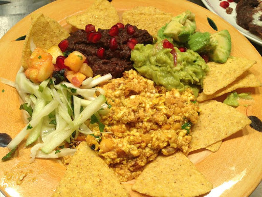 chic pea scramble with black beans
